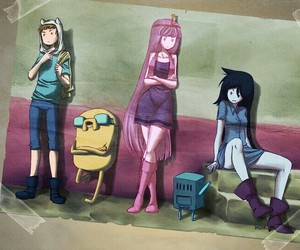finn, JAKe, and marceline image