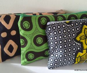 detola and geek, ankara fabric pouch, and african print pouch image