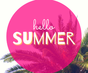 summer, hello, and pink image
