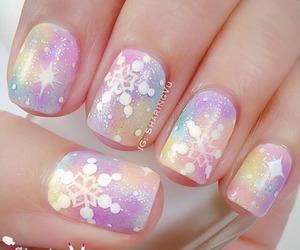 girl, nail polish, and pink image
