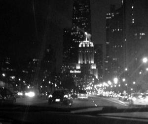 black and white, chicago, and city image