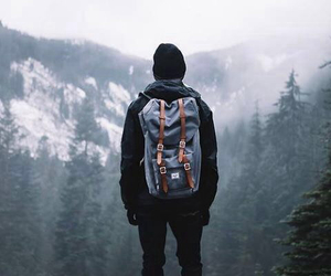 adventures, guy, and bag image
