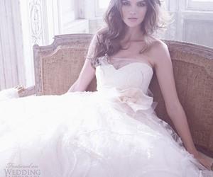 white, beautiful, and wedding dress image