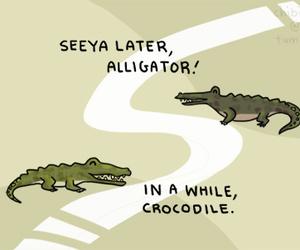 funny, crocodile, and fun image