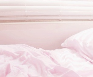 header, pink, and bed image