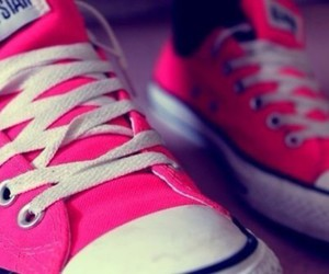 pink, converse, and all star image