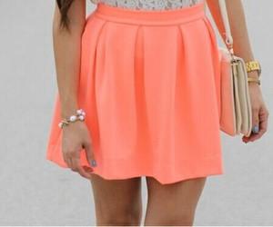 fashion, skirt, and orange image