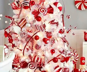 christmas, candy cane, and red image