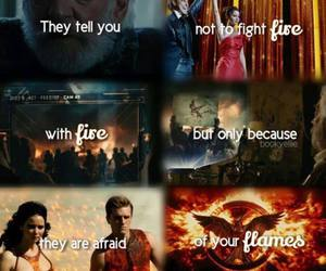 fire, love is, and hunger games image