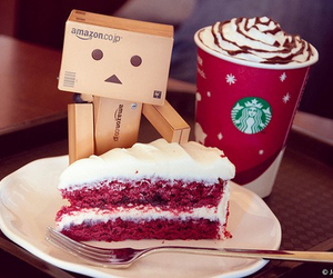starbucks, cake, and food image