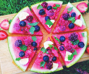 delicious, pizza, and watermelon image