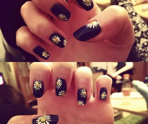 beautiful, flowers, and nails image
