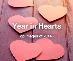 christmas, hearts, and 2014 image