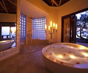 bathroom, luxury, and romantic image