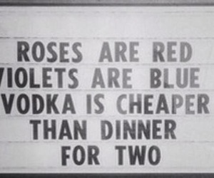 quote, roses, and violets image