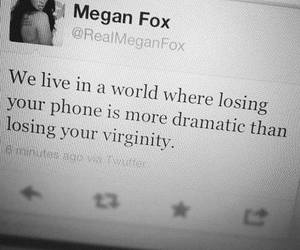 megan fox, quotes, and virginity image
