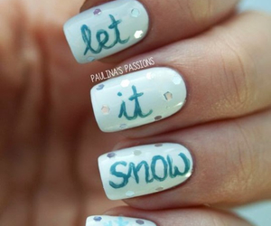 nails, snow, and nail art image