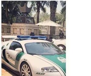 bugatti, Dubai, and police image