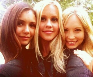 Nina Dobrev, claire holt, and candice accola image