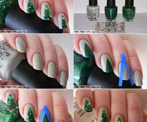 nails, christmas, and diy image
