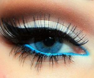 eyes, eye, and blue image