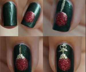 christmas, diy, and christmas nail art image