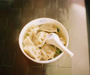 food, dumplings, and yummy image