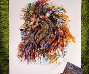 art and lion image