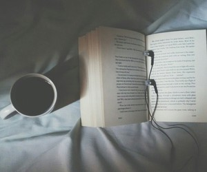 books, coffee, and cold image