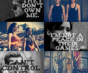 katniss, hunger games, and peeta image