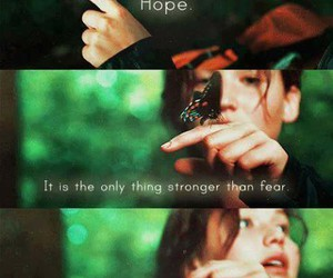 hope, Jennifer Lawrence, and the hunger games image