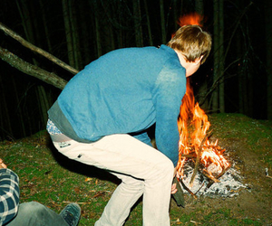 fire and boy image