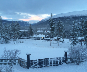 norway, snow, and view image