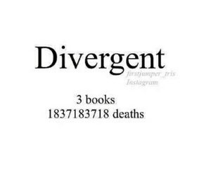 divergent, book, and death image