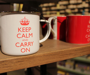 cup, keep calm, and sweet image