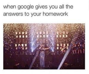 google, funny, and homework image