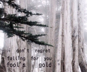 song, songtext, and fools gold image