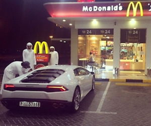 car, luxury, and McDonalds image