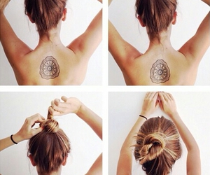 hair, hairstyle, and tattoo image