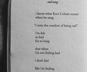 kurt cobain, nirvana, and sad song image