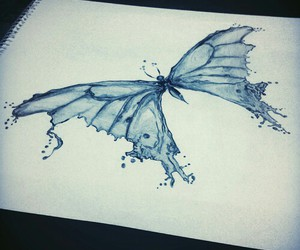 art, draw, and butterfly image