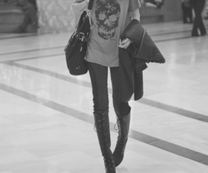 black and white, pretty, and fashion image