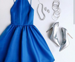 blue, girly, and high heels image