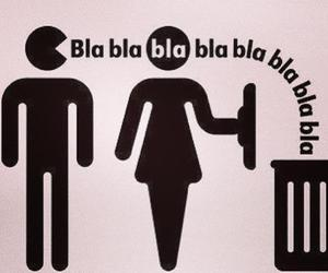 boy, woman, and blah image