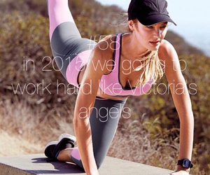 sport, workout, and candice swanepoel image