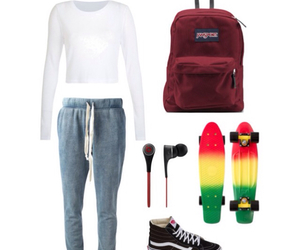 jamaica, jansport, and joggers image