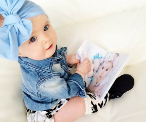 baby, blue, and child image