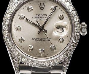 diamonds, luxury, and rolex image