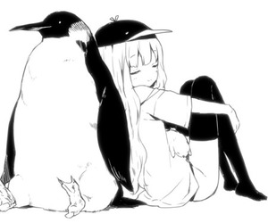 anime, cute, and penguin image