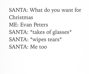 evan peters, santa, and funny image